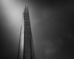 Shard of Light (vulture labs) Tags: light sky london clouds composition zeiss skyscraper dark moody minimal apo workshop rays 135mm fineartphotography theshard vulturelabs