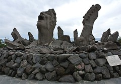 portrait of a scream statue (gwilli) Tags: animated gif wiggly japan japan2014 sakurajima