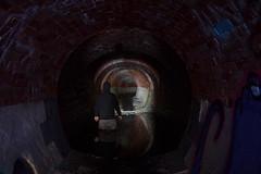 Get Wet (JAZ-art) Tags: storm water drain drains tunnel brick under ground underground urban urbex explore exploring melbourne hoody jaz art jazart tunnels