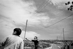Ramallah 2001 (Alberto Prez Puyal) Tags: leica bw israel riot palestine ramallah clash alberto second plus hp5 riots m2 ilford perez summaron intifada ramala puyal
