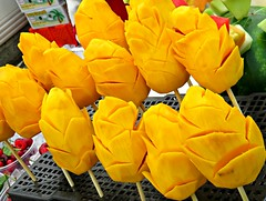 Mango on a Stick (knightbefore_99) Tags: car free day food italian italy eastvan june vancouver west coast commercialdrive 2016 sunny stick mango thai thailand