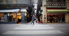 new york state of mind (keith midson) Tags: road street city urban man walking cafe melbourne diner lane cbd laneway zebracrossing centrelane