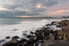 Storm on the way...Raglan. (lytescape) Tags: ocean seascape beach water rock coast shore raglan
