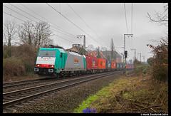 Locon 186 126, Rheine 05-03-2016 (Henk Zwoferink) Tags: 186 nordrheinwestfalen henk duitsland 126 bombardier rheine traxx benelux locon zwoferink
