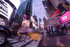 NYC Time Square, Buzzing WIth Life V Jul-13-16 (Bader Otaby) Tags: city nyc travel blue sunset summer sculpture usa chicago ny newyork art skyline architecture modern skyscraper square photography hotel bahrain illinois amazing nikon downtown dubai cityscape cta nightscape time loop leed flamingo uae central sigma center jfk tokina hour 8mm ord riyadh 18200 gcc rafal doh doha qatar burj hok dxb cma ksa ruh kempinski kkia 1116 megatall khalifah samyang supertall d7100 manamah kfnl kafd kapsarc