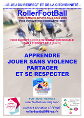 4-Poster-EFUS RollerFootBall (projet.rollerfootball) Tags: respect nonviolence citoyennet gendarmerienationale conseileconomiqueetsocial efus mixit segpa bonneuilsurmarne ozp russiteducative ducationpopulaire jeanpauldelevoye liguedelenseignement rollerfootball activitspriscolaires sportthique ducationprioritaire sermentdebonneconduite projetsocioducatif funmoverespect associationfranaisederollerfootball jeudurespectetdelacitoyennet innovationeducative cafpdagogique christianlefvre olivierbouard gmfpartenariateducation bpdj