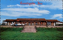 Countryside Inn, Virden, Manitoba (SwellMap) Tags: architecture vintage advertising design pc 60s fifties postcard suburbia style kitsch retro nostalgia chrome americana 50s roadside googie populuxe sixties babyboomer consumer coldwar midcentury spaceage atomicage