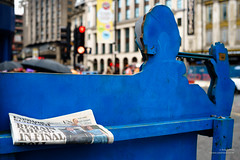 Remain ahead in final Poll (cybertect) Tags: london sign newspaper headline vote referendum eveningstandard remain tottenhamcourtroad poll sonya7 canonfd35mmf2ssc brexit