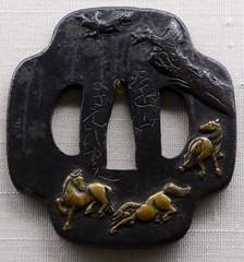 tokyo little zoo (3) (canecrabe) Tags: museum bronze cheval muse sabre garde edo cerisier tsuba
