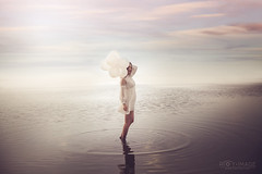 between dream and reality ( Roy Image) Tags: dream reality sea water people balloon        royimage          portrait photographer fashion model photography photograph photoshoot fantasy  taiwan   art asia  beautiful love cute