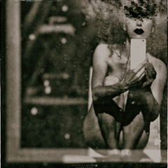 from my blogMay 22, 2016 (RapidHeartMovement) Tags: selfportrait monochrome self reflected squareformat selfwcamera rapidheartmovement