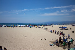 Busy Day at the Beach (etzel42) Tags: ocean california santa ca pier santamonica socal monica boardwalk westcoast