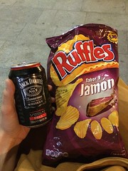 snack time (gracefaceee) Tags: ruffles jack mixed drink chips daniels jamon