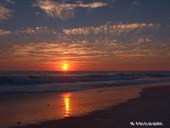Sunset; Torrey Pines Beach, CA (jamesclinich) Tags: ocean california ca sunset sky sun detail beach water clouds landscape waves availablelight tripod clarity olympus pacificocean paintshoppro omd topaz corel torreypinesbeach adjust em10 denoise jamesclinich