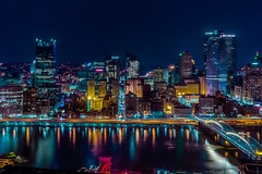 Pittsburgh (fractal pics) Tags: city light night landscape neon pittsburgh cityscape