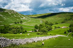 Goredale (jasonmgabriel) Tags: trees stone wall clouds landscape scenery sheep yorkshire dry hills fields scar dales malham goredale