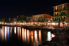 Lake Garda Evening (roikarool) Tags: longexposure italy lake water night 35mm lights evening nikon garda colorful smooth silk d800 langzeitbelichtung