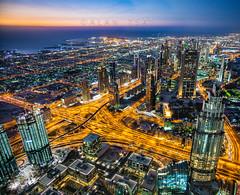 Dubai night view (Alan Dreamworks) Tags: leica travel sunset red dubai uae getty summilux 21mm