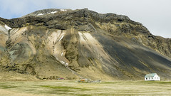 Icelandic homesteads old and new (lunaryuna) Tags: houses panorama mountain season landscape iceland spring decay rockface lunaryuna stable homesteads naturaltextures snaefellsnespeninsula westiceland seasonalchange livingarrangements