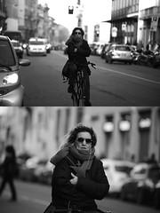 [La Mia Citt][Pedala] senza mani (Urca) Tags: portrait blackandwhite bw bike bicycle italia milano bn ciclista biancoenero mir bicicletta 2016 pedalare dittico 85585 nikondigitale ritrattostradale