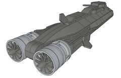 SSXDragonshark003 (Dragonov Brick Works) Tags: lego submarine snot ldraw microscale studless