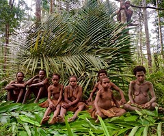 West Papua (silvia.alessi) Tags: travel family people color forest indonesia asia tribal papua westpapua korowai