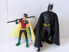 Dynamic Duo (Copnfl) Tags: batman robin wire fildefer sculpture dccomics dc comics papiermch paper duo dynamicduo