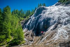 Down the waterfall with Nick Gowan  #MTB #Bike #Waterfall #GouilleDeSalin #Tignes #Alps #Summer #OneShot #NoPhotoshop  (c) www.TristanShu.com (Tristan Shu) Tags: summer alps bike waterfall mtb tignes nophotoshop oneshot gouilledesalin