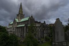 La cathédrale Saint-Mungo de Glasgow vue depuis la nécropole