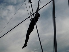 Anne's Flying Trapeze Lessons (Piedmont Fossil) Tags: anne flying dc washington outdoor trapeze lessons