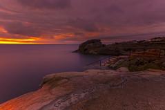 Morning Swim (darek_gruszka) Tags: ireland dublin wave sunrise light swimmer long exposure lee filter