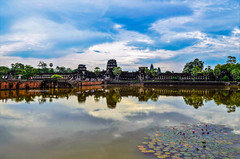 in between the water and the sky (yukarifukui) Tags: cambodia angkorwat temple sky water