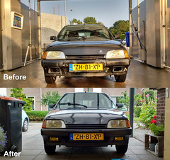 before-after (BasFeijen) Tags: citroen citron ax image 11 1991 before after bumper respray fog lights cibie 480 valeo zh81xp
