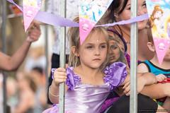 Kids - lilac girl - Jacaranda Parade 2015 (sbyrnedotcom) Tags: 2015 people events grafton jacaranda parade rural town girl lilac dress tattoos nsw australia