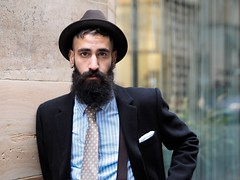 Paul (Peter Grifoni) Tags: peter grifoni gtpete gtpete63 the human family group street stranger portrait portraiture olympus omd em1 zuiko 45mm f18 melbourne city flinders lane jack london paul style hat beard