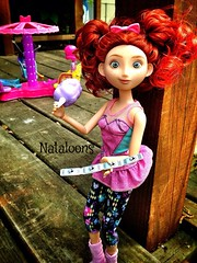 Ticket to Ride (Nataloons) Tags: park pink ice girl fashion monster toy amusement store high doll candy outdoor spin barbie ticket disney pack cotton merida pixar twirl brave blob recreation mummy pigtails mattel playset createamonster monsterhigh uploaded:by=flickrmobile flickriosapp:filter=nofilter