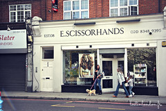 hair dresser London (fabienne & co) Tags: funny name hairdresser scissorhands