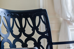 Have A Seat! (BGDL) Tags: chair curtain diningroom shootanythingsaturday 7daysofshooting nikond7000 bgdl nikkor50mm118g week43twiststurnsandcurls elementsorganiser11