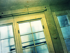 just another window (___rei) Tags: blue windows building green window glass rain wall dark angle room pipes scratches ceiling dirt filter opaque filters scratched windowpane edit rundown edits skewed iphone semiopaque iphonography pixlromatic