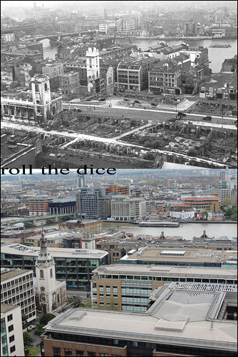 View From St Pauls Cathedral`1948-2013