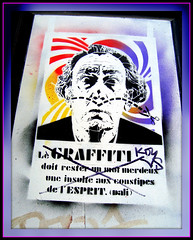 Dali Graffit - on Explore - (Pifou 2010) Tags: street city light streetart abstract paris france art colors graffiti town couleurs belleville lumiere dali storewindow rues ville vitrines 2013 gerardbeaulieu pifou2010 daligraffit