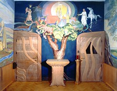 Fresco painting (atelierwilfried) Tags: painting modernart apocalypse chapel relief custom ecclesiastical fresco religiousart frescoart churchinterior churchart customart churchaltar atelierwilfried