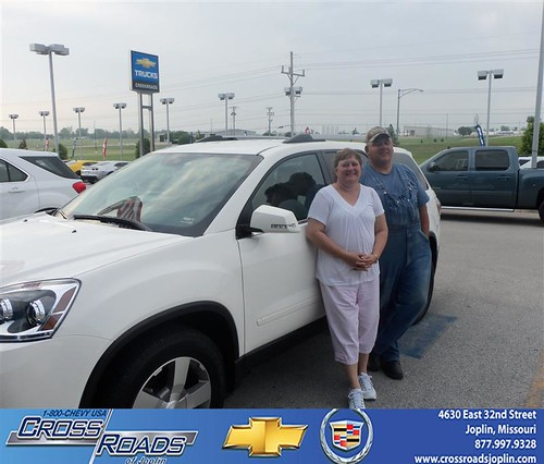 Crossroads Chevrolet Cadillac would like to say Congratulations to Larry Carlin on the 2012 GMC Acadia