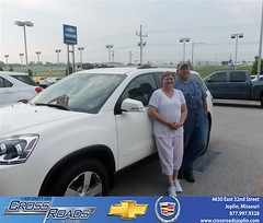 Crossroads Chevrolet Cadillac would like to say Congratulations to Larry Carlin on the 2012 GMC Acadia (Crossroads Chevrolet Cadillac) Tags: new chevrolet car sedan truck wagon happy pickup cadillac mo used vehicles chevy missouri bday van minivan suv crossroads luxury coupe dealership caddy joplin shoutouts hatchback dealer customers 4dr 2dr preowned