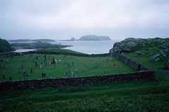 Cemetery, North end of Great Bernera (1996) (Duncan+Gladys) Tags: uk scotland rossandcromarty isleofgreatbernera