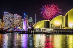 Vivid Sydney (Mike Hankey.) Tags: city lights flickr fireworks sydney vivid darlingharbour maritimemuseum
