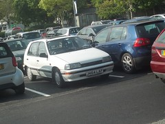 Daihatsu Charade (occama) Tags: old uk white car cornwall retro 1991 1992 reg rare registration charade cornish daihatsu
