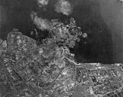 US bombing Kowloon Harbor 1945 (SSAVE) Tags: hongkong japanese wwii worldwarii nara kowloon usaaf