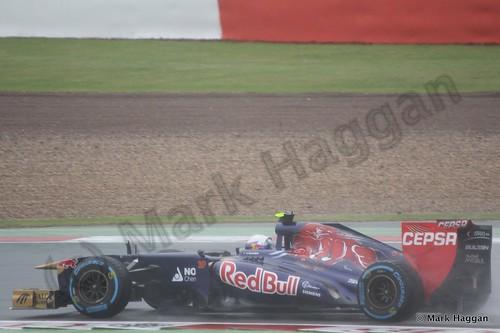 Daniel Ricciardo in Free Practice 1 for the 2013 British Grand Prix