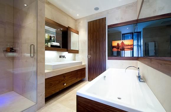 Banheiros planejados modernos